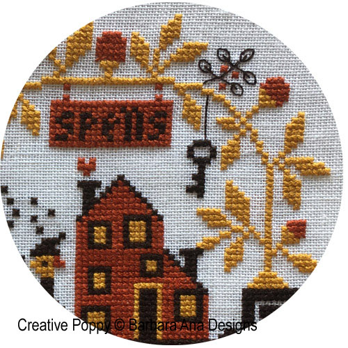 Spellville - Halloween Mystery SAL 2020 cross stitch pattern by Barbara Ana Designs, zoom 1
