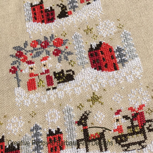 Christmas Cake - Mystery chart SAL cross stitch pattern by Barbara Ana Designs, zoom 1