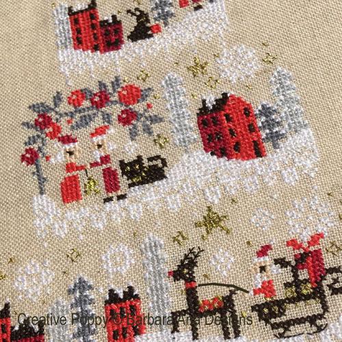 Christmas Cake - Mystery chart SAL cross stitch pattern by Barbara Ana Designs, zoom 1