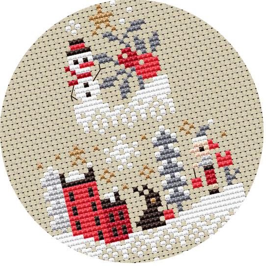 Barbara Ana - Christmas cake Mystery SAL - cross stitch pattern
