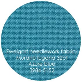 32 ct. Azure Blue (5152) Lugana - Murano from Zweigart