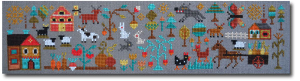 A New World - part 2: Plentiful Meadows cross stitch pattern by Barbara Ana Designs, zoom1