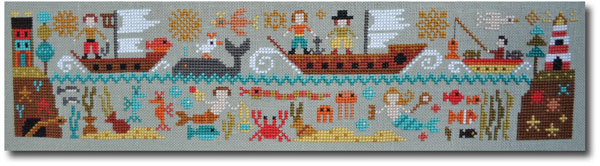 A New World -  Part 5: Over the Seas, cross stitch pattern by Barbara Ana Designs, zoom1