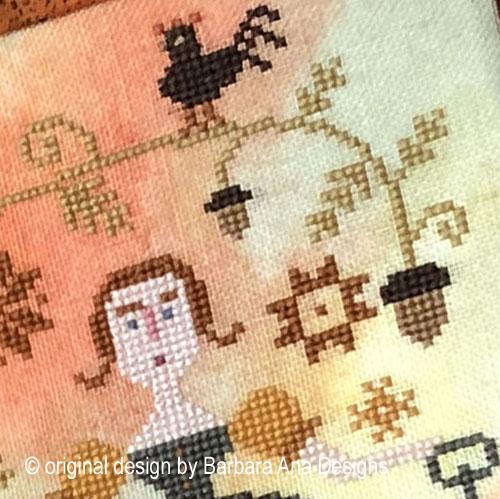 Autumn Keeper cross stitch pattern by Barbara Ana Designs, zoom 1