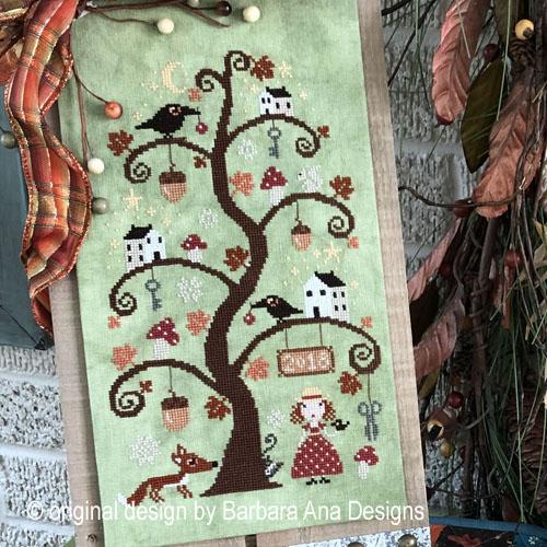 Autumn Tree cross stitch pattern by Barbara Ana Designs