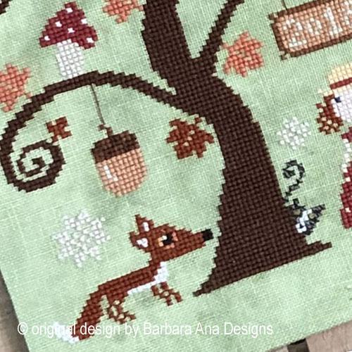 Autumn Tree cross stitch pattern by Barbara Ana Designs, zoom 1