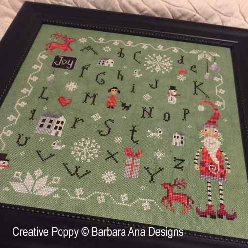 Christmas Joy cross stitch pattern by Barbara Ana designs