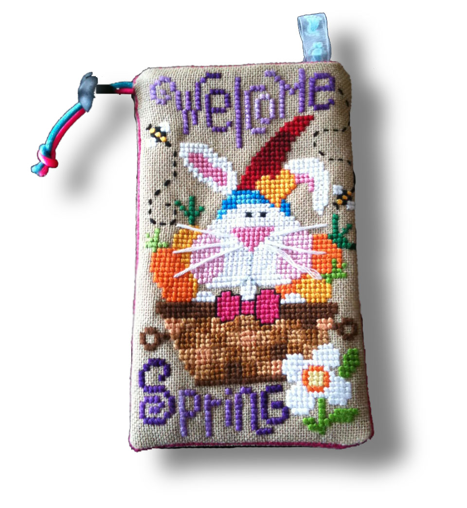 Barbara Ana Welcome Spring cross stitch pattern stitched by Lydia