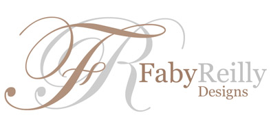 Faby Reilly Designs Cross stitch pattern logo