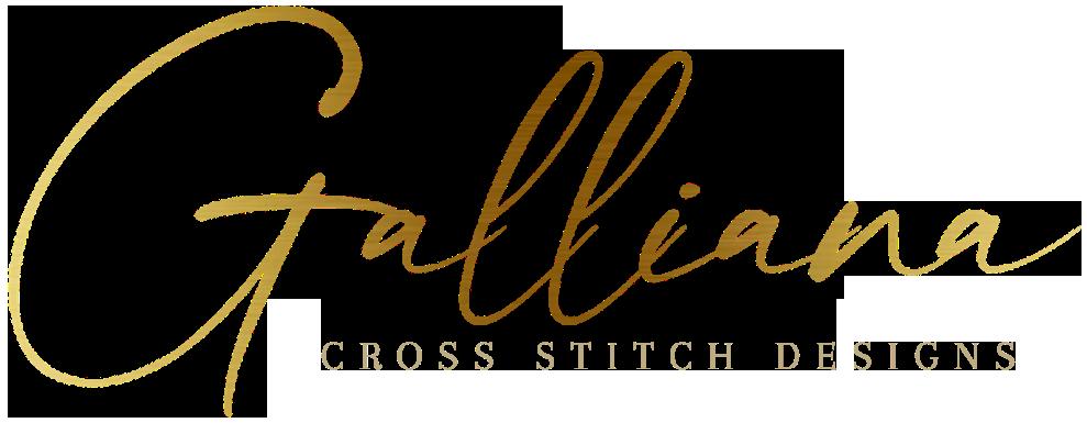 Galliana Cross stitch pattern logo