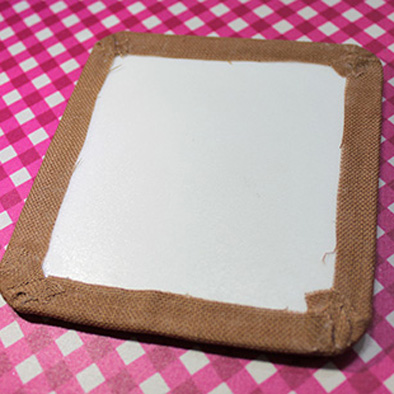 Cross stitch frame finishing tutorial step 2