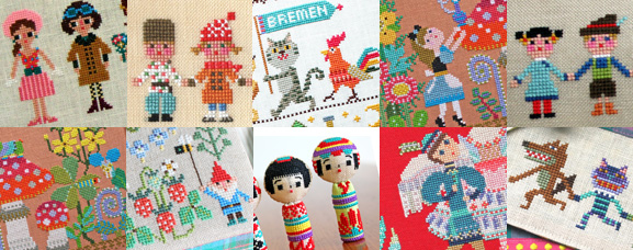 Cross stitch patterns by GERA! designed by Kyoko Maruoka