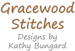 Gracewood Stitches Cross stitch pattern designed by Kathy Bungard