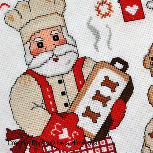 Christmas baking patterns to cross stitch