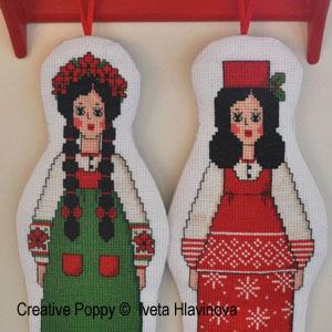 Dolls patterns to cross stitch