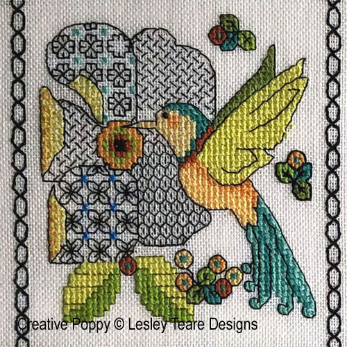 Lesley Teare 2020 SAL - February part (detail 1)