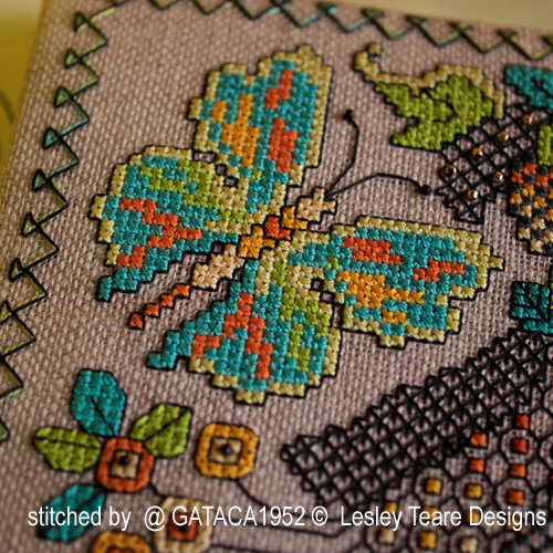 Lesley Teare Designs - Blackwork Butterfly cards (cross stitch chart)