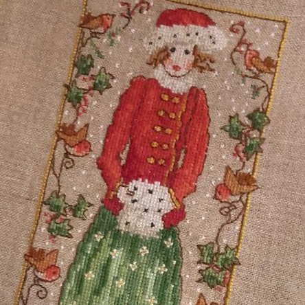 Holly Girl cross stitch pattern by Lesley Teare Designs, zoom 1