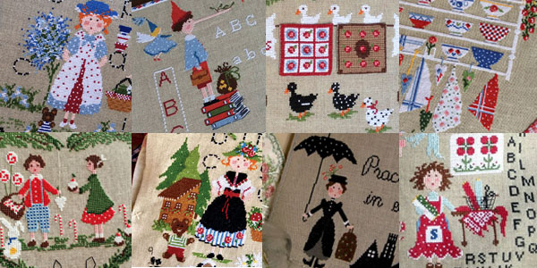 cross stitch patterns designed by Lilli Violette