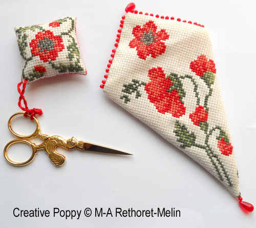 Poppy patterns to cross stitch