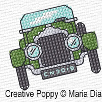 Maria Diaz Designs - Transport mini motifs (1),  (counted cross stitch pattern)