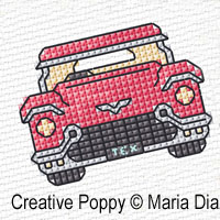 Maria Diaz Designs - Transport mini motifs (1), zoom 2 (counted cross stitch pattern)