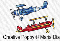 Maria Diaz Designs - Transport mini motifs (2),  (counted cross stitch pattern)