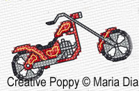 Maria Diaz Designs - Transport mini motifs (2), zoom 2 (counted cross stitch pattern)