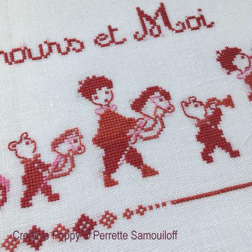 Patterns to cross stitch with teddies