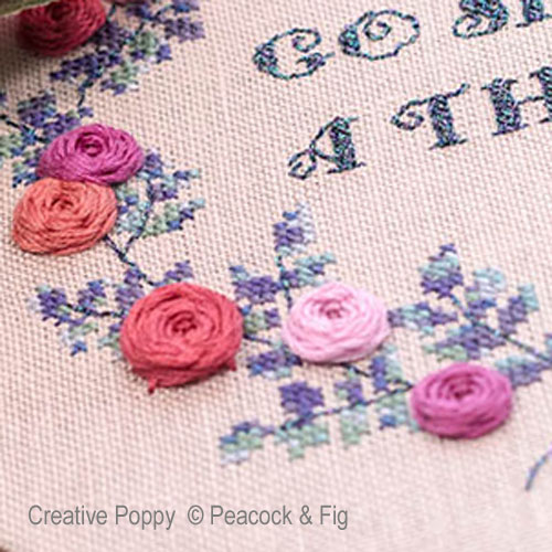 Go Bloom Yourself collection,  cross stitch patterns designed by <b>Peacock & Fig</b>
