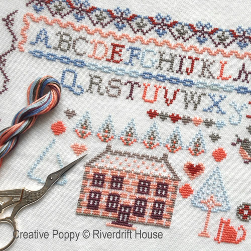 Big House 2 cross stitch pattern by Riverdrift House, zoom 1