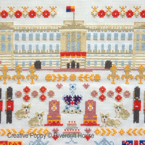 Royal family cross stitch patterns designed by <b>Riverdrift House</b>