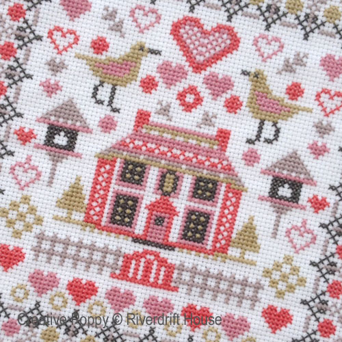 Mini cross stitch pattern by Riverdrift House
