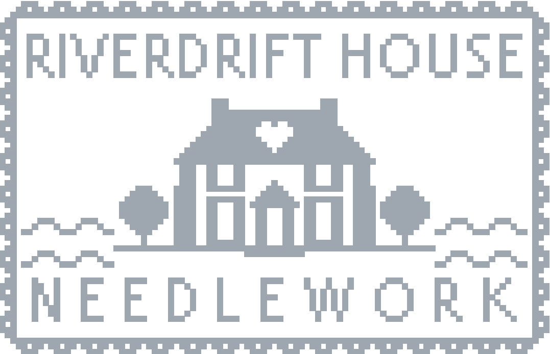 Riverdrift House Cross stitch pattern logo