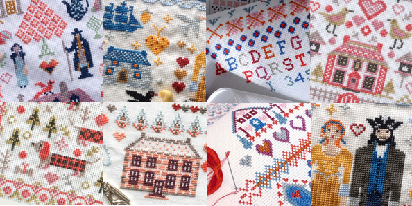 Riverdrift House cross stitch patterns designed by Amanda Stevenson