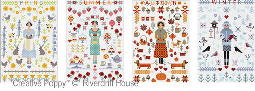 The summertime miniature is actually the second in a series of 4 year-round patterns