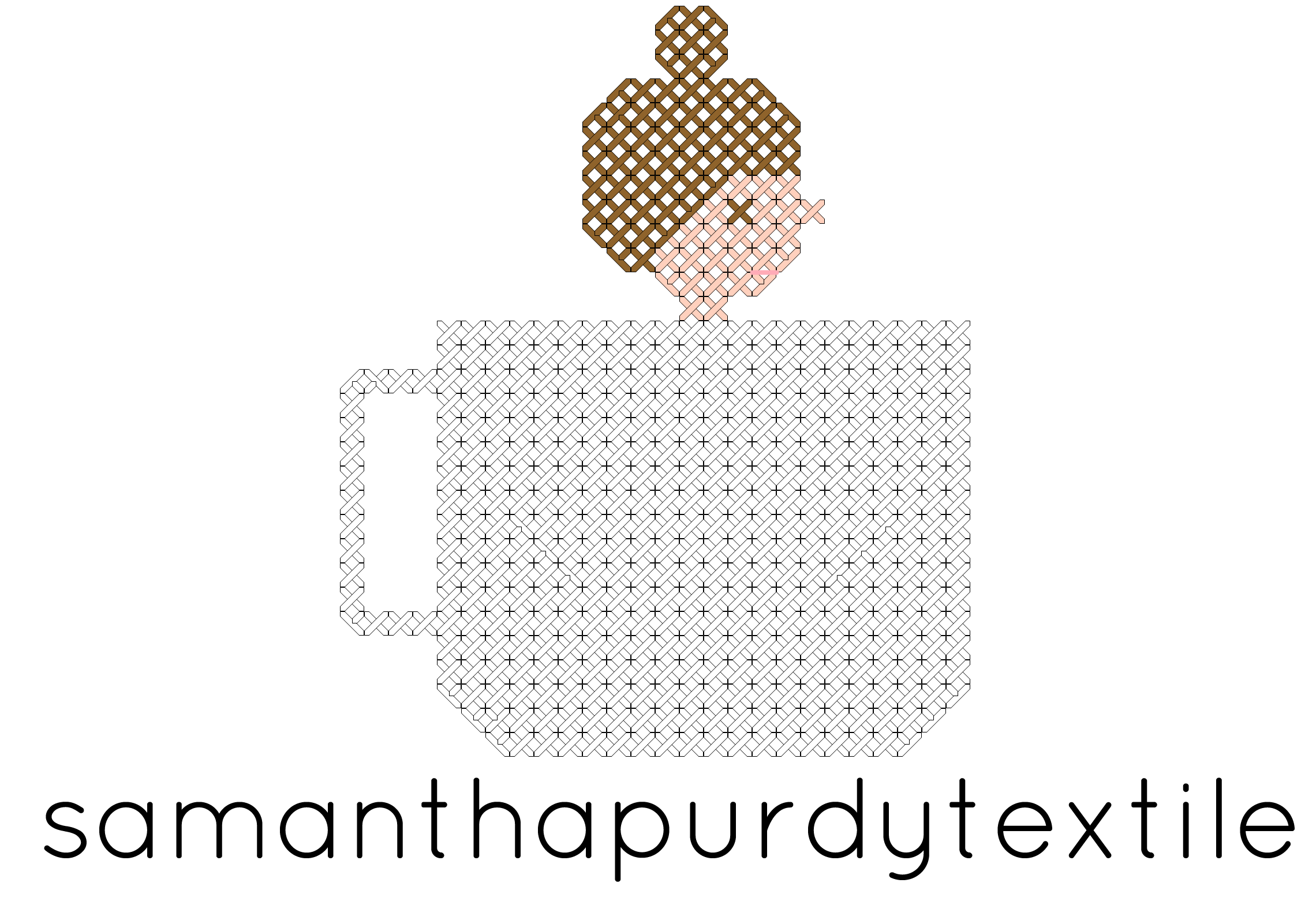 Samanthapurdytextiles Cross stitch pattern logo