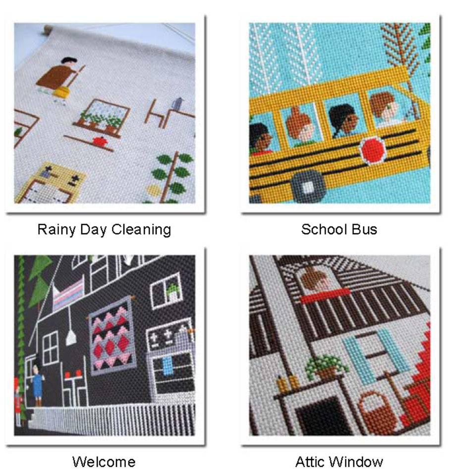 cross stitch patterns designed by Samanthapurdytextile