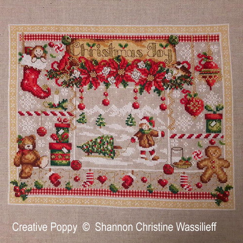 Christmas Joy cross stitch pattern by Shannon Christine Designs