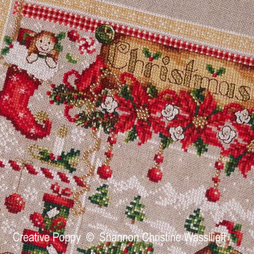 Christmas Joy cross stitch pattern by Shannon Christine Designs, zoom 1