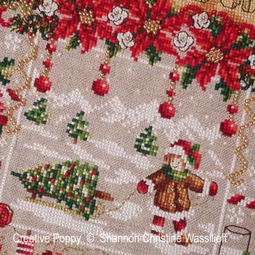 Shannon Christine Designs - Christmas Joy zoom 1 (cross stitch chart)