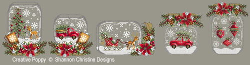 Christmas Snow Globes - Cross stitch patterns by Shannon Christine Designs