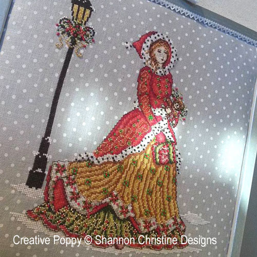 Victorian Lady cross stitch pattern by Shannon Christine Designs