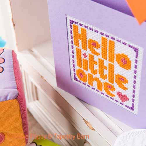 New Baby cards cross stitch pattern by Tapestry Barn, zoom 1