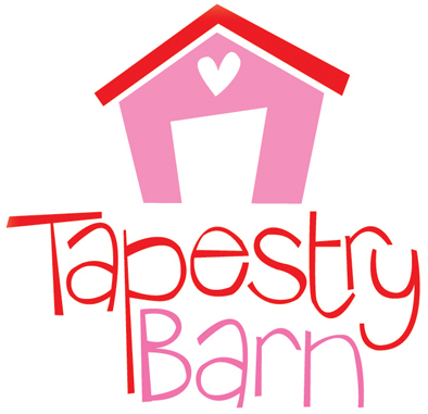 Tapestry Barn Cross stitch pattern logo