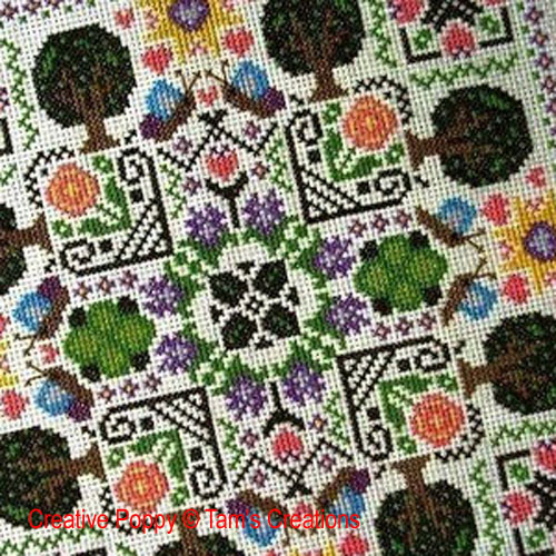 Gardens patterns to cross stitch