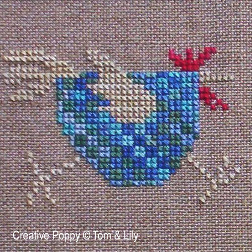 Hens and farmyard animals patterns to cross stitch