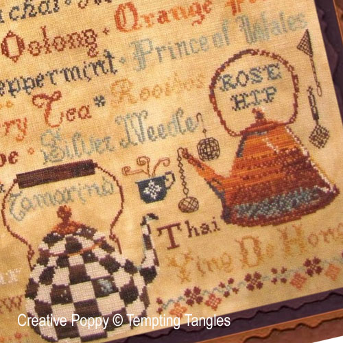 Tea & Coffee cross stitch patterns designed by <b>Tempting Tangles</b>