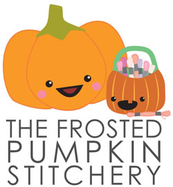 Amanda and Ashleigh design cross stitch patterns for The Frosted Pumpkin Stitchery
