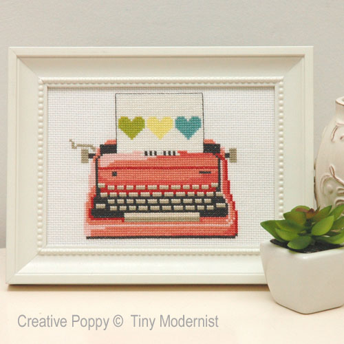 Retro Sixties Style cross stitch patterns designed by <b>The Tiny Modernist</b>